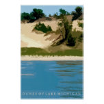 Dunes of Lake Michigan Print