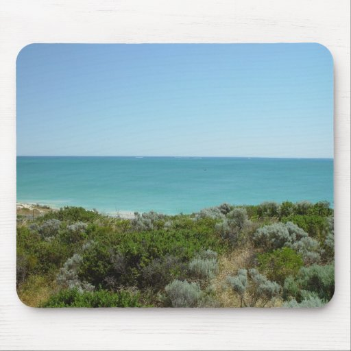 Dunes, Scrub And Sea Off Quinns Rocks Mouse Pad