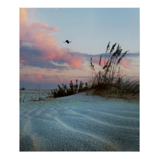Dunes Sunset Photo Poster Print
