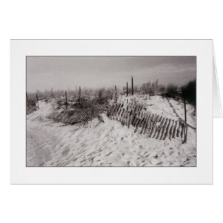 'Dunes with Fencing' Blank Greeting Card