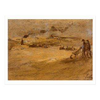 Dunes with Figures, Vincent van Gogh Postcard