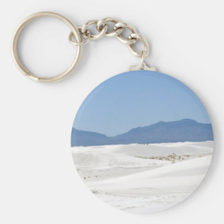Dunes with Mountain view Keychain