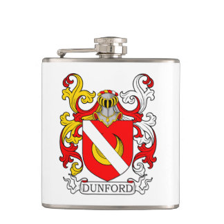 Dunford Coat of Arms II Hip Flask