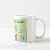 Dung beetle contemplates the meaning of life coffee mug