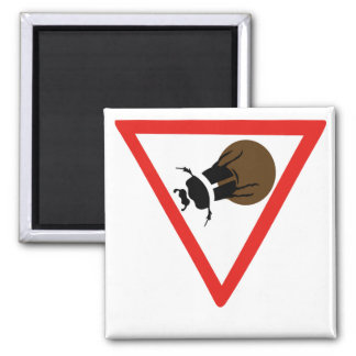 Dung Beetle Crossing, Trafic Sign, South Africa Magnet
