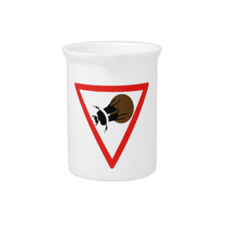 Dung Beetle Crossing, Trafic Sign, South Africa Drink Pitcher