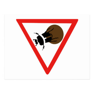 Dung Beetle Crossing, Trafic Sign, South Africa Postcard