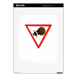 Dung Beetle Crossing, Trafic Sign, South Africa iPad 2 Decal