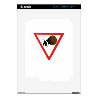 Dung Beetle Crossing, Trafic Sign, South Africa iPad 3 Skin