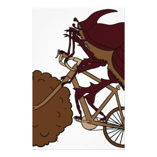 Dung Beetle Riding Bike With Dung Wheel Stationery