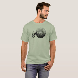 Dung Beetle Rolling Dung Ball | African Wildlife T-Shirt