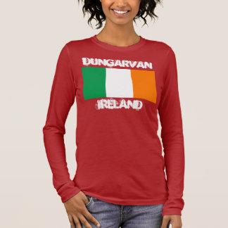 Dungarvan, Ireland with Irish flag Long Sleeve T-Shirt