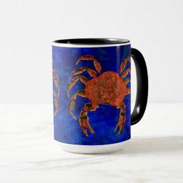 Coffee Themed Dungeness Crab - 15 oz. Combo Mug