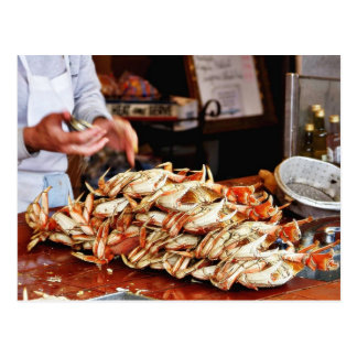Dungeness Crab At Fishermans Wharf In San Francisc Postcard