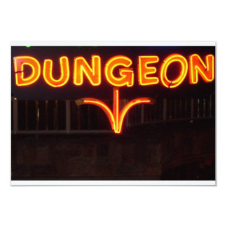 DUNGEON 3.5X5 PAPER INVITATION CARD