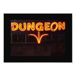 DUNGEON 5X7 PAPER INVITATION CARD