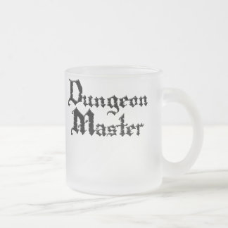 Dungeon_Master1 Frosted Glass Coffee Mug