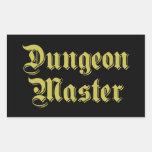 Dungeon Master Rectangular Stickers