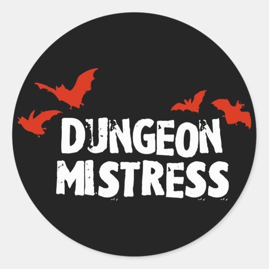 Dungeon Mistress Classic Round Sticker