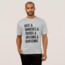 Dungeons Dragons Inspired Words List Men's T-Shirt