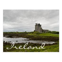 Dunguaire castle, Ireland text postcard