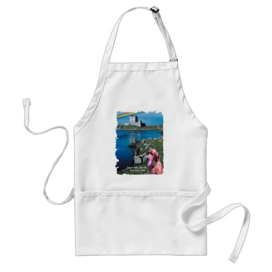 Dunguaire Castle View Galway Bay Ireland Adult Apron