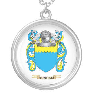 Dunham Coat of Arms Round Pendant Necklace