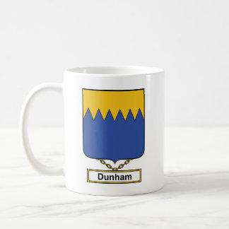 Dunham Family Crest Classic White Coffee Mug