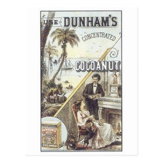 Dunham's Cocanut Postcard