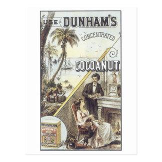 Dunhams Cocoanut Postcard