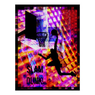 Dunk in Electric Light Chaos Poster
