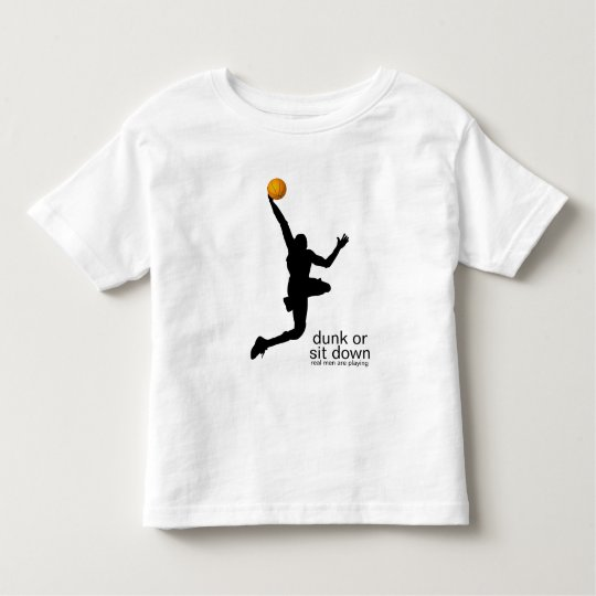 dunk or sit down toddler t-shirt