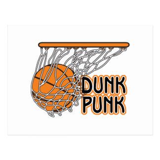 dunk punk cool basketball design post cards