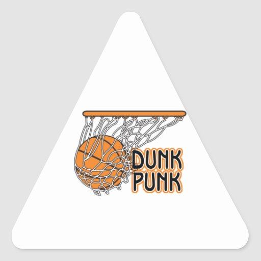 dunk punk cool basketball design triangle stickers
