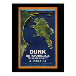 Dunk The Romantic Isle - Great Barrier Coral Reef Postcard