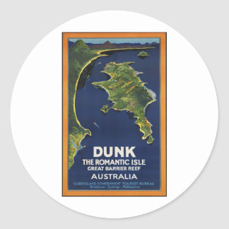 Dunk The Romantic Isle - Great Barrier Coral Reef Stickers