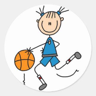 Dunking al pegatina del baloncesto