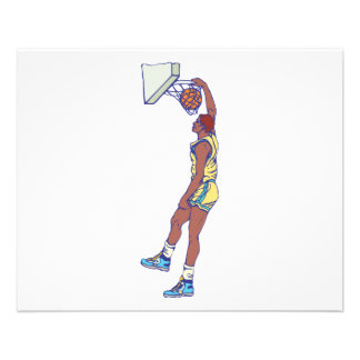 dunking basketball player graphic personalized flyer