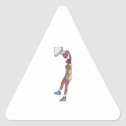 dunking basketball player graphic triangle sticker