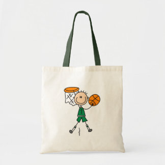 Dunking Boys Basketball Tshirts and Gifts Tote Bags
