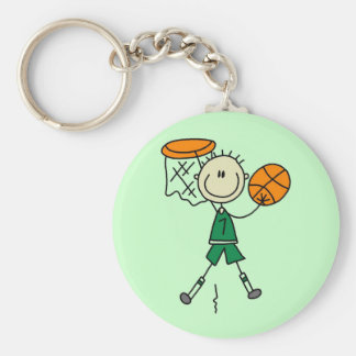 Dunking Boys Basketball Tshirts and Gifts Keychain