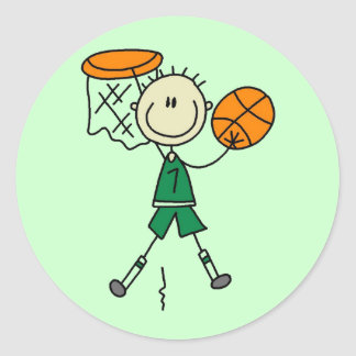 Dunking Boys Basketball Tshirts and Gifts Sticker
