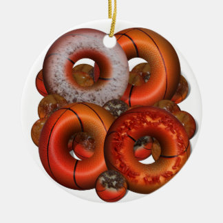 Dunking Donuts for Basketball Fan Christmas Tree Ornament
