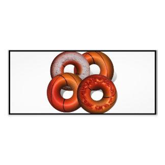 Dunking Donuts for Basketball Fan Rack Card Design