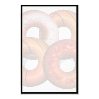 Dunking Donuts for Basketball Fan Personalized Stationery