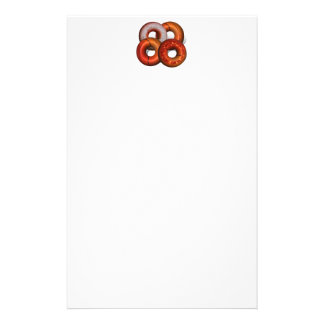 Dunking Donuts for Basketball Fan Stationery Design