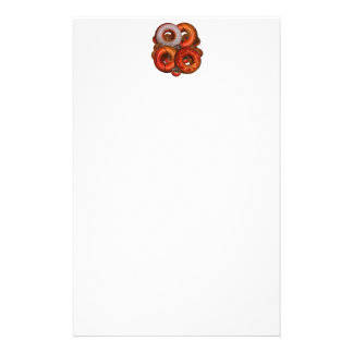 Dunking Donuts for Basketball Fan Customized Stationery