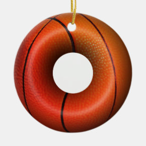 Dunking Donuts for Basketball FanS Ceramic Ornament