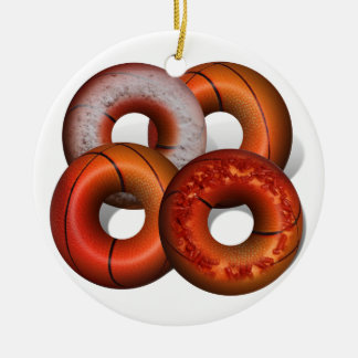 Dunking Donuts for Basketball FanS Ornament