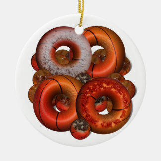 Dunking Donuts for Basketball FanS Christmas Ornament